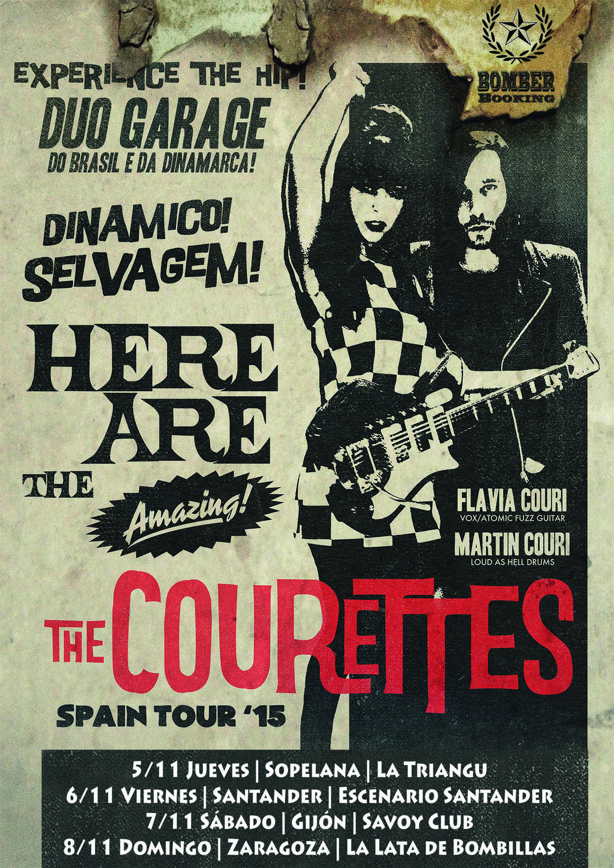 THE COURETTES IBERIAN TOUR 2015