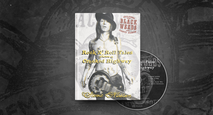 Rock'N'Roll Tales From a Crooked Highway' de Stevie Klasson Book and CD