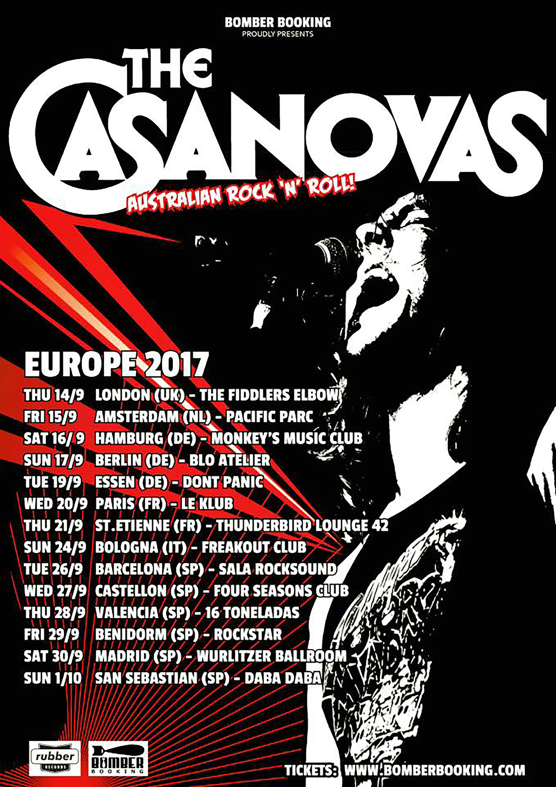 THE CASANOVAS EU TOUR 2016